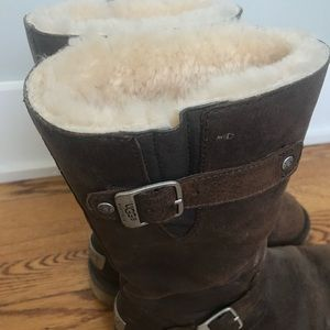 UGG Shoes - Brown leather buckle Uggs